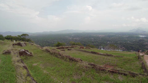 View from the top of a famous hill. Sigiriya. Sri  Footage