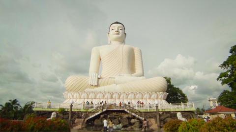 Big Buddha At Bentota. Sri Lanka stock footage