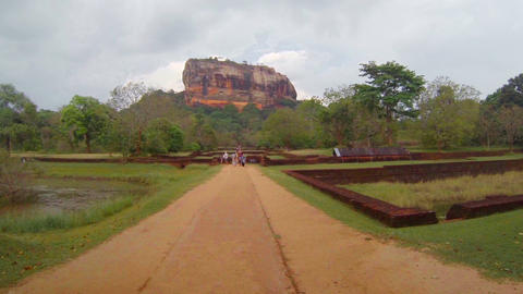 At the foot of Sigiriya. Sri Lanka Footage