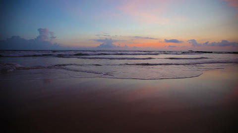 Tropical beach at sunset Footage