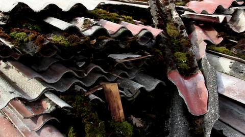Rusty old roof slate Live Action