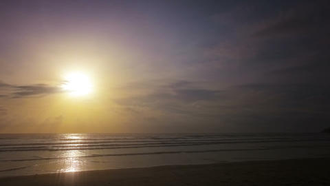 Beautiful sunrise over the ocean Footage