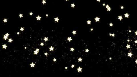 Glitter and Stars Decoration Background Golden Animation