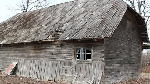 An old house with wooden shingles Footage