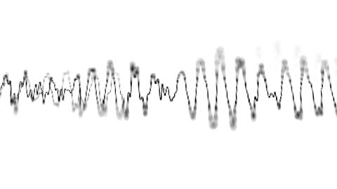 Graphical display of sound waves on the electronic Footage
