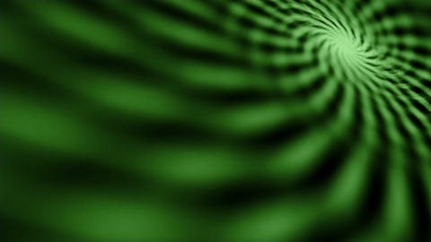 Hypnotic maddening green spiral on screen Animation