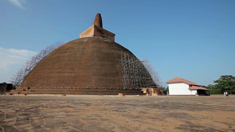 Landmark of Sri Lanka - an ancient Buddhist dagoba Footage