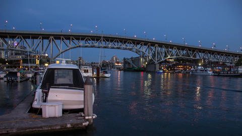 Twilight by Granville Bridge Footage