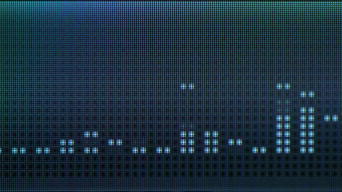 Digital blue equalizer on a monochrome electronic  Footage