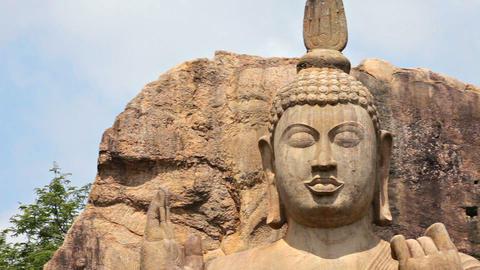 Avukana Buddha statue. Sri Lanka - standing statue Footage