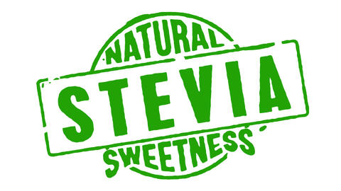 Rubber Stamp Natural Stevia Sweetness CG動画素材