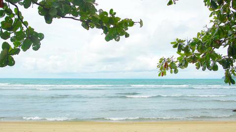 Deserted beach in Thailand Phuket Island Footage