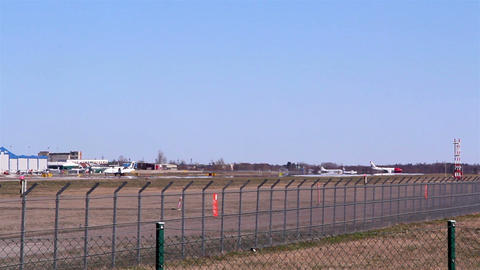The view of the airports runway Footage