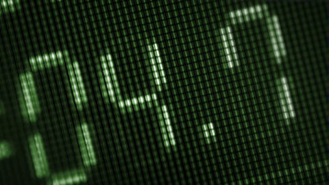 Rotatory Numbers On A Computer Screen Close-up stock footage