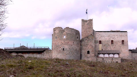 The Old Castle As A Tourist Attraction stock footage