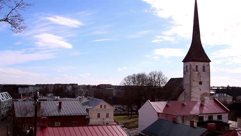 The old village with an old church Footage