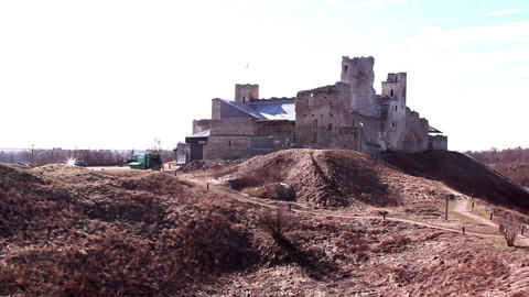 The historical place where the old castle remains Footage