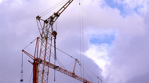 A Rotating Crane stock footage