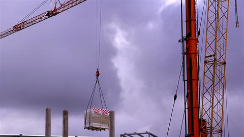 A crane loading some cargo Footage