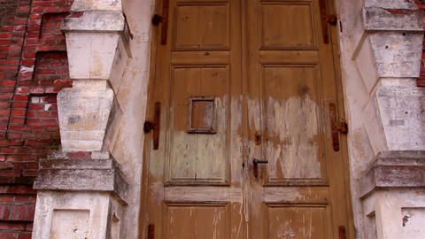 The vintage door of the old church Footage