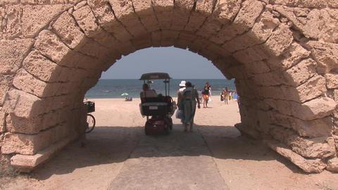 caesarea beach Footage