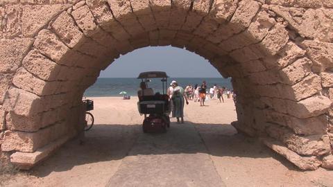 caesarea beach Stock Video Footage