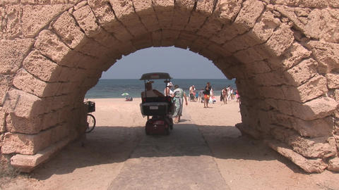 caesarea beach Stock Video Footage