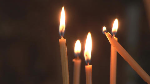 lighting candles Footage