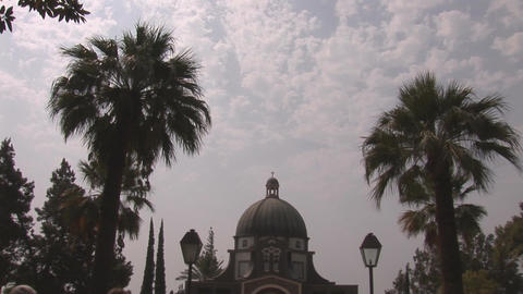 Church of the Beatitudes Stock Video Footage