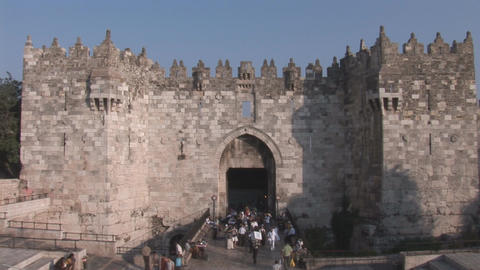Damascus Gate Stock Video Footage