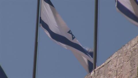 flag of israel 2 Stock Video Footage
