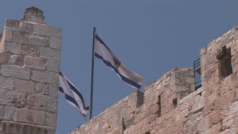 Flags on the Tower Stock Video Footage