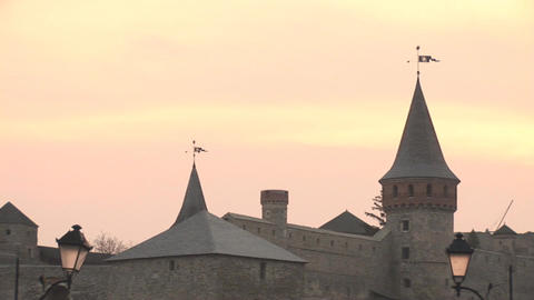 Old Fortress Stock Video Footage