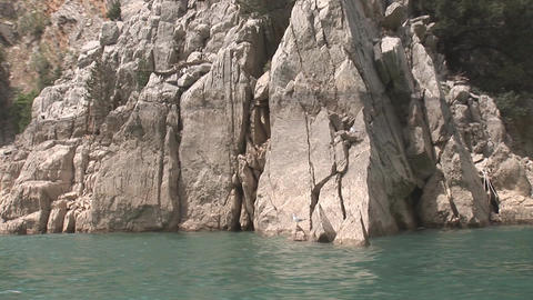 Rocks of the Green Canyon Stock Video Footage