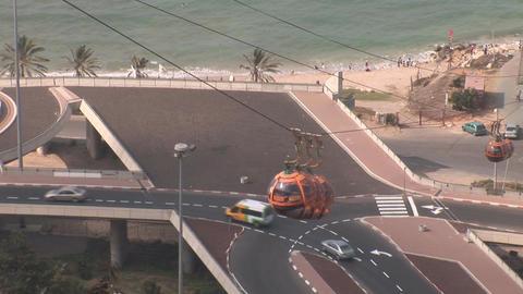 haifa cableway 2 Stock Video Footage
