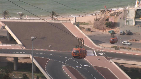 haifa cableway 2 Stock Video Footage