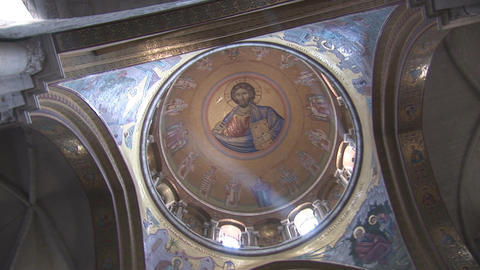 Holy Sepulcher dome 2 Stock Video Footage