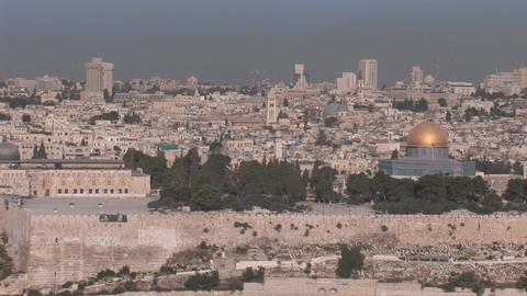 Jerusalem pan 2 Stock Video Footage
