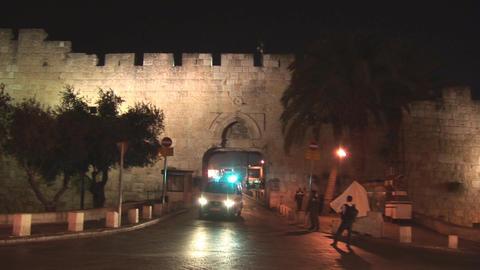 Jerusalem police 2 Stock Video Footage