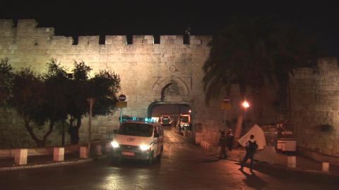 Jerusalem police 2 Stock Video Footage
