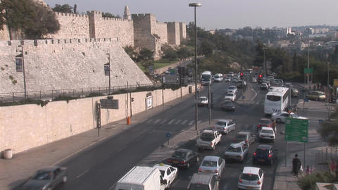 Jerusalem road Stock Video Footage