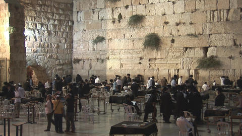 Kotel at night 2 Stock Video Footage
