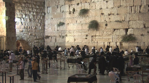 Kotel at night 2 Footage