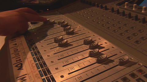 mixing console Stock Video Footage