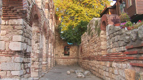 nessebar walls Stock Video Footage