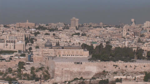 Jerusalem pan 30 Stock Video Footage