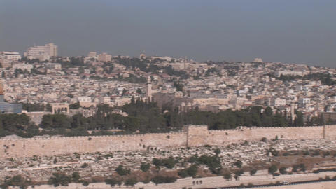 Jerusalem pan 30 Footage