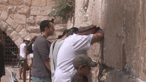Kotel prayer Footage