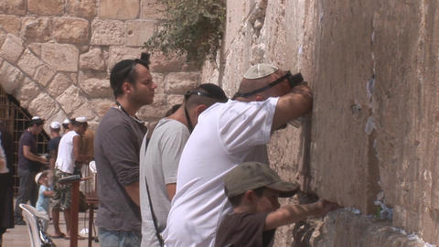 Kotel prayer Stock Video Footage
