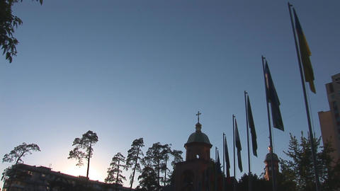 church memorial 1 Stock Video Footage